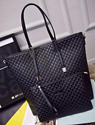 preiswerte -Damen Taschen PU Bag Set 2 Stück Geldbörse Set Reißverschluss für Normal Draussen Winter Schwarz Schwarz-rot