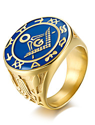 cheap -Men's Band Ring - , Casual / Fashion Gold Ring For Office & Career / Work