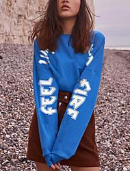 preiswerte -Damen Pullover Übergrössen Alltag Einfach Solide Rundhalsausschnitt Ohne Futter Mikro-elastisch Baumwolle Acryl Japanische Baumwolle