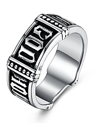 cheap -Men's Statement Ring - Stainless Steel Fashion, Hip-Hop 8 / 9 / 10 Silver For Bar / Festival