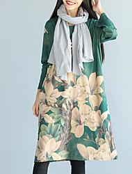 abordables -Femme simple Ample Ample Robe - Imprimé, Peinture Midi
