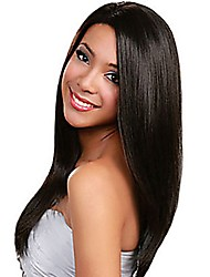 cheap -Human Hair Full Lace Wig Peruvian Hair Straight 130% Density Women's Human Hair Lace Wig