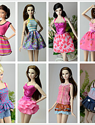 cheap -Princess Costumes For Barbie Doll Dresses Skirts Tops Pants For Girl's Doll Toy