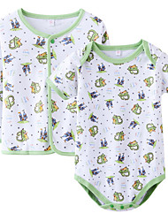 cheap -Baby Kid's Birthday Casual/Daily Floral One-Pieces,Cotton Spring Ordinary Long Sleeve Blushing Pink Green Blue