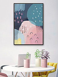 cheap -Abstract Illustration Wall Art,PVC Material With Frame For Home Decoration Frame Art Living Room Indoor