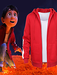 cheap -Coco Miguel Coat Vest Movie Cosplay Red Coat Vest Day of the Dead Poly/Cotton Spandex