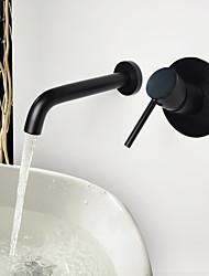 abordables -Vintage Colocado en la Pared De Pared Válvula Cerámica 2 Orificios Bronce Aceitado , Baño grifo del fregadero
