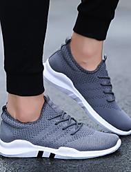 baratos -Homens sapatos Arrastão / Courino / Couro Ecológico Primavera / Inverno Conforto Tênis Branco / Preto / Cinzento / Corrida