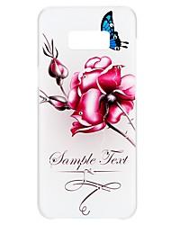 preiswerte -Hülle Für Samsung Galaxy S8 S7 Strass Geprägt Muster Rückseitenabdeckung Wort / Satz Schmetterling Blume Hart PC für S8 Plus S8 S7 edge