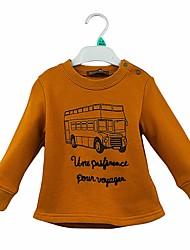 abordables -Pull à capuche & Sweatshirt Fille Couleur Pleine Bande dessinée Coton Printemps Automne Manches longues simple Mignon Dessin Animé Chameau