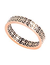 cheap -Women's Stainless Steel Band Ring With Gift Box - Metallic Vintage Rose Gold Ring For Daily