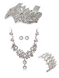 Недорогие -Жен. Гребни Свадебные комплекты ювелирных изделий Стразы европейский Мода Свадьба Для вечеринок Искусственный бриллиант Сплав Бабочка