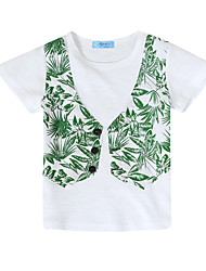 cheap -Boys' Patchwork Tee, Cotton Summer Long Sleeves Vintage White Navy Blue