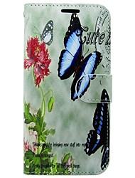 preiswerte -Hülle Für Samsung Galaxy S8 S7 Kreditkartenfächer Geldbeutel mit Halterung Flipbare Hülle Schmetterling Hart für