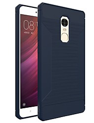 cheap -Case For Xiaomi Redmi Note 4 Frosted Back Cover Solid Color Soft TPU for Xiaomi Redmi Note 4