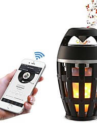 cheap -1pc LED Flame Lamp Bluetooth Speaker Touch Soft Light For iPhone Android Christmas Gift