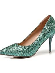 preiswerte -Schuhe Denim Jeans maßgeschneiderte Werkstoffe Frühling Sommer Neuheit Pumps High Heels Stöckelabsatz für Hochzeit Party & Festivität