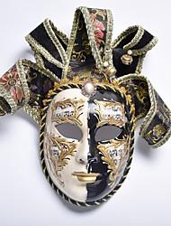 economico -Carnevale Maschera veneziana Maschera mascherata Nero Metallo Accessori Cosplay Mascherata