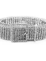 cheap -Women's Vintage Casual Alloy Waist Belt