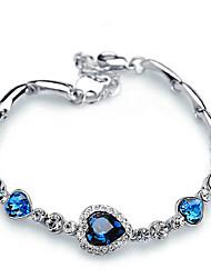 cheap -Women's Crystal Chain Bracelet - Heart Classic, Fashion Bracelet Dark Blue / Light Blue For Gift / Daily / Prom