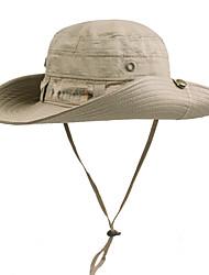 baratos -Boné Com Proteção UV Chapéu de Sol Verão Resistente aos raios UV Exercicio Exterior Unisexo Algodão Sólido