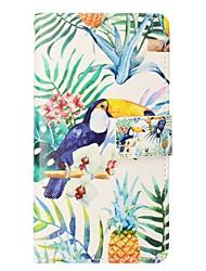 Недорогие -Кейс для Назначение Apple iPhone X iPhone 8 Plus Бумажник для карт Кошелек со стендом Флип Магнитный Чехол Животное Твердый Кожа PU для