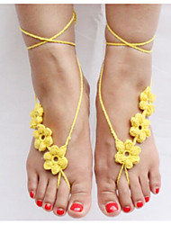 cheap -Fabric Foot Accent Women's Summer Casual White Black Light Yellow Red Almond