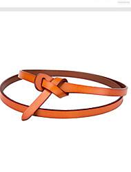 cheap -Women's Leather Waist Belt,Camel Casual