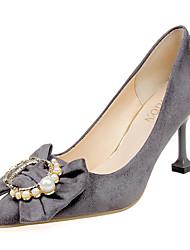 economico -Per donna Scarpe Cashmere Primavera Comoda Tacchi A stiletto Appuntite Fiocco per Formale Nero Grigio Rosso Rosa