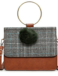 cheap -Women Bags PU leatherette Shoulder Bag Zipper for Casual All Season Brown Red Black Green