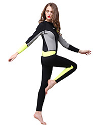 cheap -HISEA® Women's Full Wetsuit 3mm Diving Suit Quick Dry Full Body Solid Colored / Back Zipper / Fashion Spring / Summer / Winter
