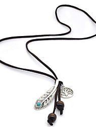 cheap -Women's Turquoise Pendant Necklace Collar Necklace  -  Basic Fashion Silver Necklace For Wedding Daily