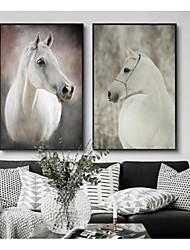 preiswerte -Gerahmtes Set Tiere Darstellung Wandkunst, Polystyren Stoff Mit Feld Haus Dekoration Rand Kunst Wohnzimmer Schlafzimmer