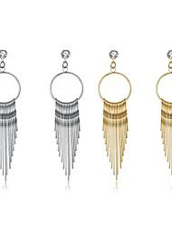 cheap -Women's Oversized Drop Earrings - Oversized / Statement / Fashion Gold / Silver Line Earrings For Party / Work