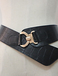 cheap -Women's Genuine Leather Waist Belt,Light Brown Black Casual
