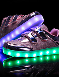 cheap -Girls' Shoes PU Spring First Walkers / Light Soles / Light Up Shoes Sneakers LED for Gold / Silver / Pink