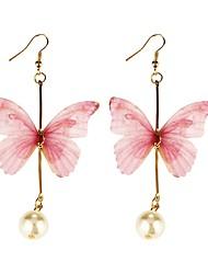 cheap -Women's Drop Earrings , Sweet Lovely Korean Fabric Alloy Butterfly Jewelry Daily