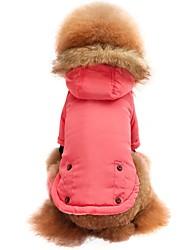Недорогие -Кошка Собака Футболка Толстовка Толстовки Одежда для собак Однотонный Розовый Нейлоновое волокно Хлопковая ткань Костюм Для домашних