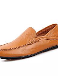 Недорогие -мужская обувь pu spring fall comfort loafers&проскальзывание для наружного синего коричневого черного