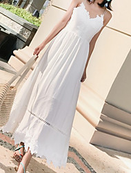 cheap -Women's Casual Cotton Sheath Dress - Solid Colored Strap / Summer