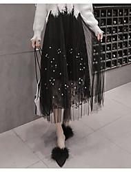 preiswerte -Damen Einfach Schaukel Röcke - Solide Stickerei