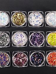 Недорогие -Гель для ногтей Пайетки Классика Гель для ногтей Пайетки Высокое качество Повседневные Дизайн ногтей