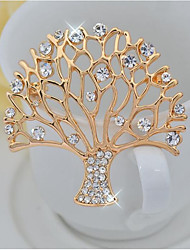cheap -Women's Brooches Elegant Alloy Tree of Life Gold Jewelry For Party Ceremony
