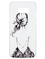 preiswerte -Hülle Für Samsung Galaxy S8 S7 Strass Geprägt Muster Rückseitenabdeckung Sexy Lady Cartoon Design Blume Hart PC für S8 Plus S8 S7 edge S7