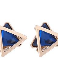 baratos -Mulheres Cristal Geométrica Brincos Curtos - Cristal Básico Branco / Azul Real Para Formal