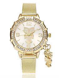 Недорогие -Жен. Наручные часы Китайский Имитация Алмазный сплав Группа На каждый день / Мода Золотистый