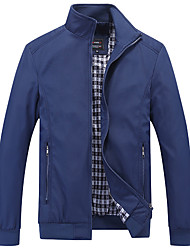 cheap -Men's Plus Size Jacket - Solid Stand