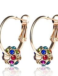 preiswerte -Damen Kugel Strass Diamantimitate Kreolen - Klassisch / Modisch Gold Ohrringe Für Alltag