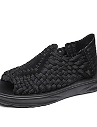 cheap -Men's Shoes Knit Net Spring Comfort Novelty Sandals for Casual Outdoor Black Beige