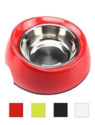 baratos -L Gato Cachorro Roupa Comedouro Animais de Estimação Tigelas e alimentação de animais Multi Camadas Durável Branco Preto Vermelho Verde